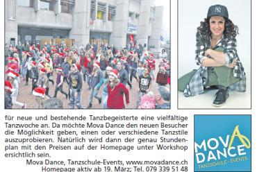 Mova Dance in der Regional Brugg Ausgabe Nr. 11!